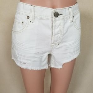 Free People Shorts - Free People white cut-offs
